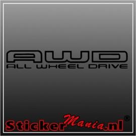 AWD sticker