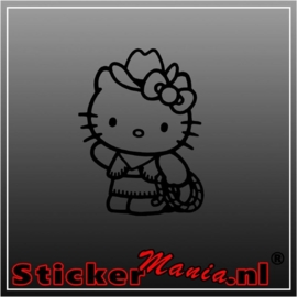 Hello kitty cowgirl sticker