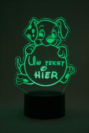 101 dalmatiers met eigen tekst led lamp