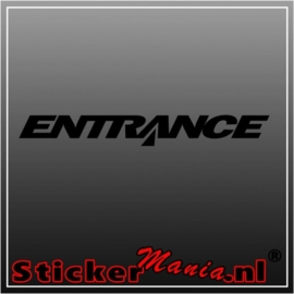 Entrance sticker