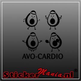 Avo-cardio sticker