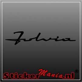 Lancia fulvia sticker