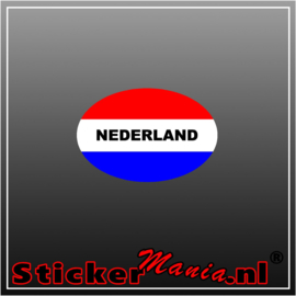 Nederland Rood Wit Blauw Full Colour sticker