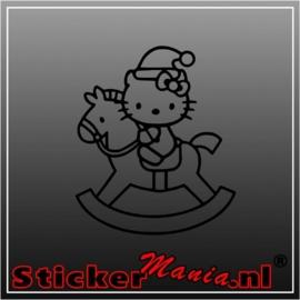 Hello kitty hobbelpaard sticker