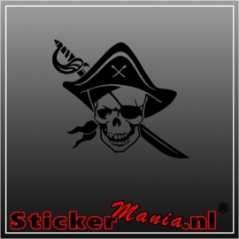 Pirate skull 1 sticker