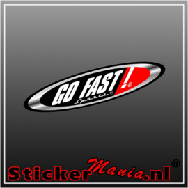 Go fast full colour sticker