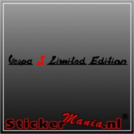 Vespa S limited edition sticker