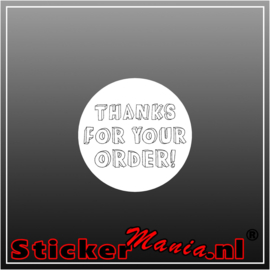 Thanks for your order Sticker wit