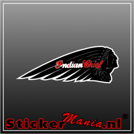 Indian Chief Full Colour sticker