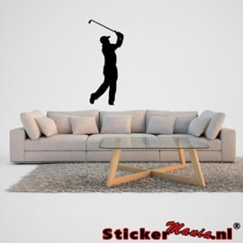 Muursticker golfer