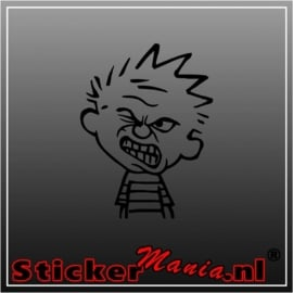 Calvin angry sticker