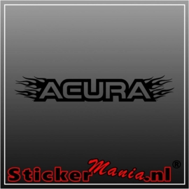 Acura flames 2 raamstreamer sticker