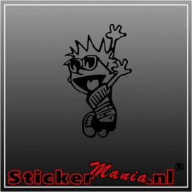 Calvin sunglasses sticker