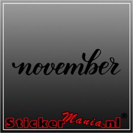 November sticker