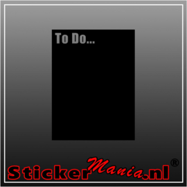 To Do... krijtbord sticker
