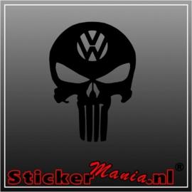 Volkswagen skull 2 sticker