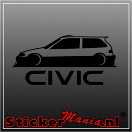 Honda civic 4 sticker