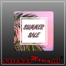 Summer sale palmboom sticker set 3 stuks