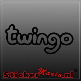 Renault twingo sticker