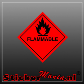 Flammable full colour sticker