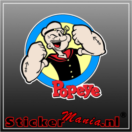 Popeye full colour sticker