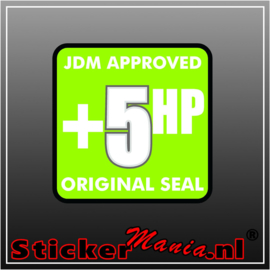 JDM Approved +5HP Full Colour sticker