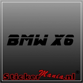BMW X6 sticker