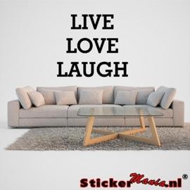Live, Love, Laugh muursticker