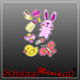 Baby sticker set meisje