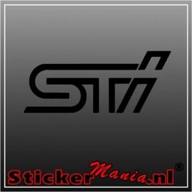 Subaru STI sticker