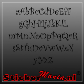 Eigen tekst lettertype Curlz MT