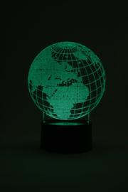 Wereldbol led lamp