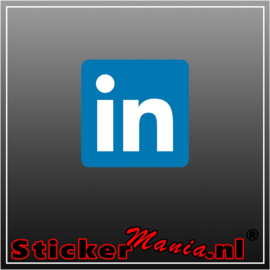 LinkedIn logo full colour sticker