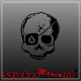 Skull 16 sticker