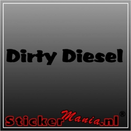 Dirty diesel sticker