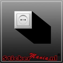 Schaduw stopcontact sticker