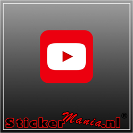 YouTube logo full colour sticker