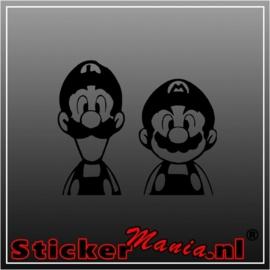 Luigi & Mario sticker