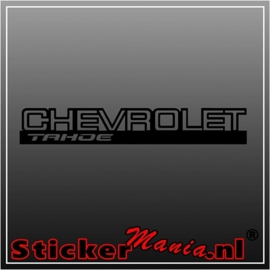 Chevrolet tahoe sticker