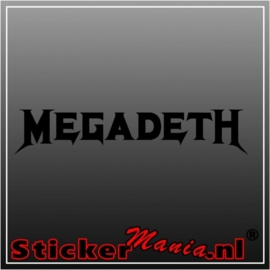megadeth sticker