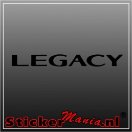 Toyota legacy sticker