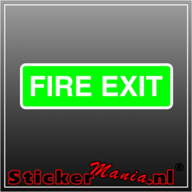 Fire exit groen full colour sticker