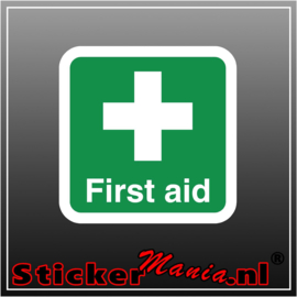 First aid full colour sticker
