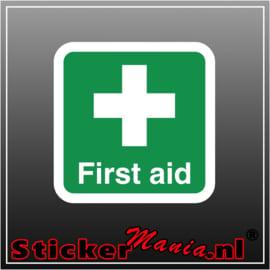 First aid full colour sticker