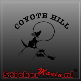 Coyote hill sticker