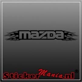 Mazda flames 2 raamstreamer sticker