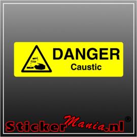 Danger caustic full colour sticker