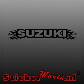 Suzuki flames 1 raamstreamer sticker