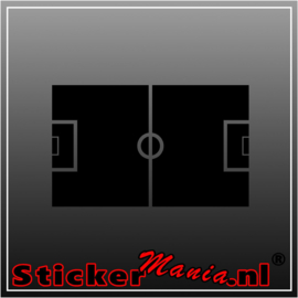 Voetbalveld krijtbord sticker