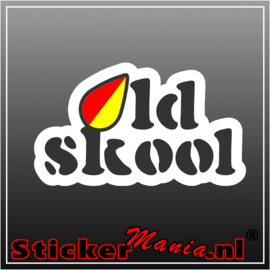 Oldskool Full Colour sticker